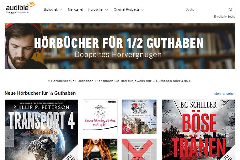 Audible 3 Monate - Hörbücher zum halben Preis