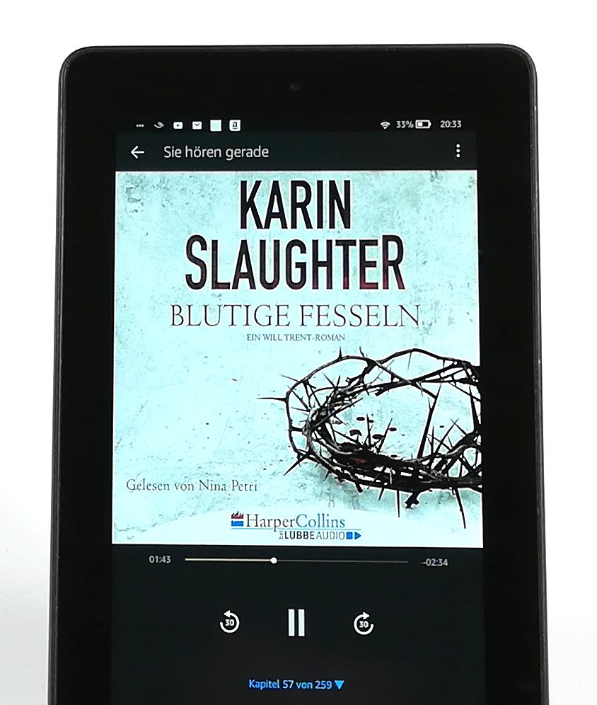 Blutige Fesseln von Karin Slaughter - Hörbuch Rezension Artikelbild
