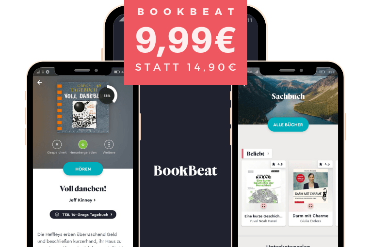 BookBeat reduziert Preis um 30% - 9,99€ statt 14,90 €