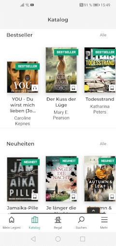 Legimi-App - Katalog