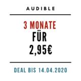 Audible 3 Monate für 2,95€