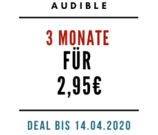 Audible 3 Monate für 2,95€