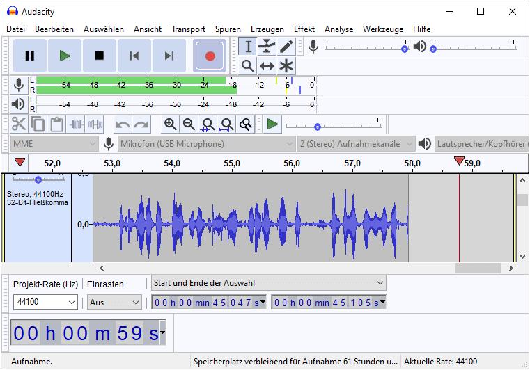Audacity-kostenloser-Audio-Editor