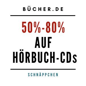 50%-80% Rabatt auf Hörbuch-CDs bücher.de