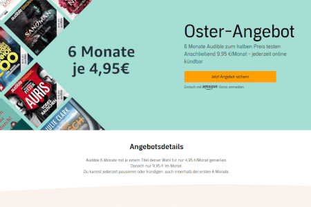 Audible Oster-Angebot