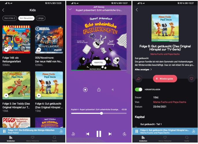 Audiobooks - Die Hörbuch-App von Deezer mit Kids-Modus